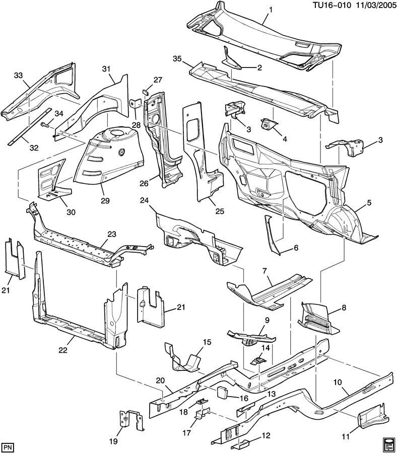 2007 buick terraza engine parts