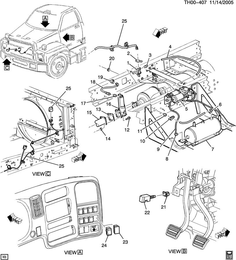 starter on gmc 7500 wiring diagram