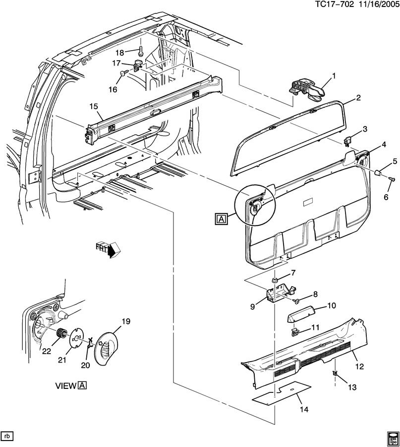 Chevrolet Avalanche Molding  End Gate And Rear Door