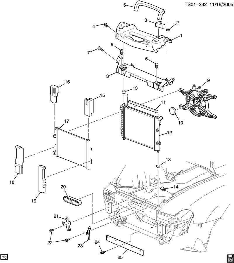 radiator mounting  u0026 related parts