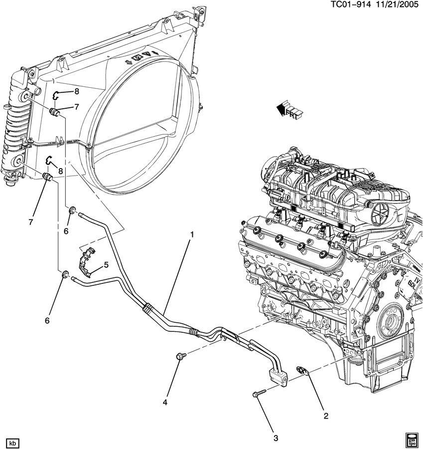 Engine Oil Cooler Lines