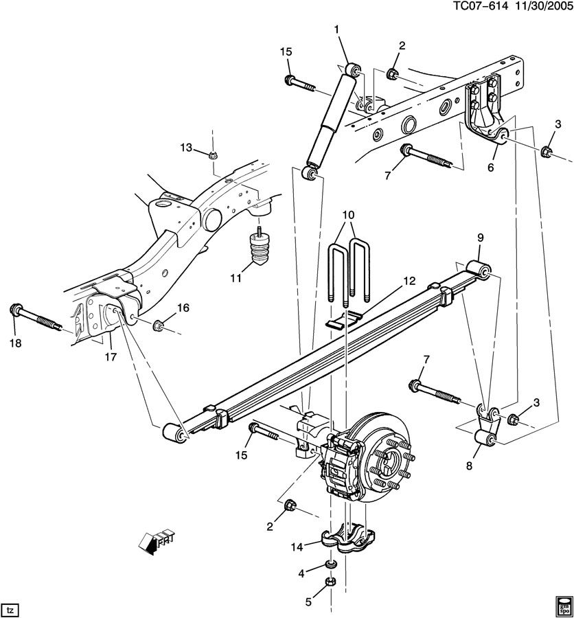 Chevrolet Suburban Suspension Rear