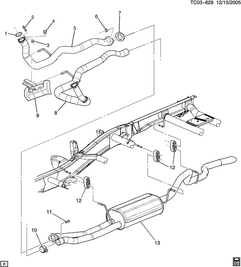 2002 chevy avalanche exhaust parts