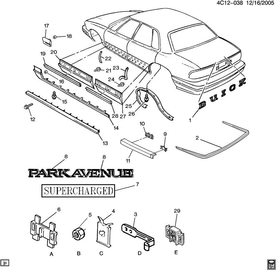 DIAGRAM 1998 Buick Park Avenue Parts Diagram FULL ...