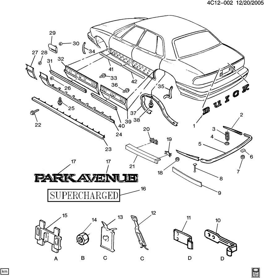1993 buick lesabre part diagram