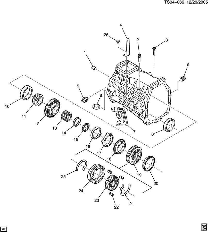 Chevrolet Trailblazer Washer  Transmission Main Shaft Gear