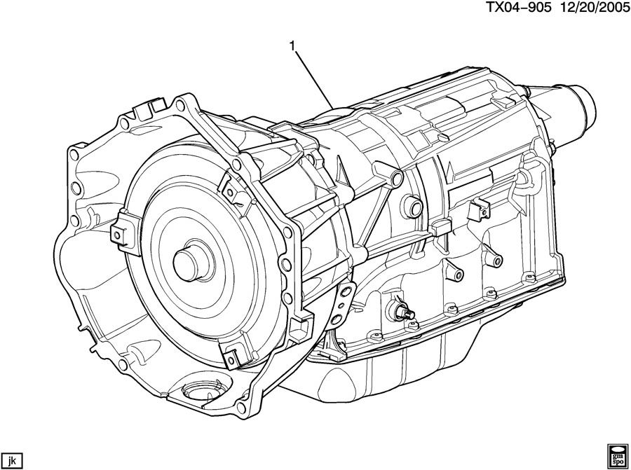 Diagram AUTOMATIC TRANSMISSION for your 2007 GMC YUKON  DENALI XL 4DR