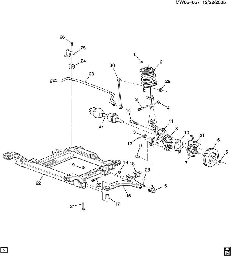 saturn sc rear suspension diagram