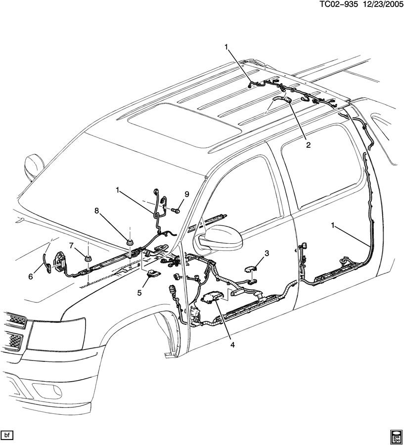 chevrolet silverado wiring harness  body