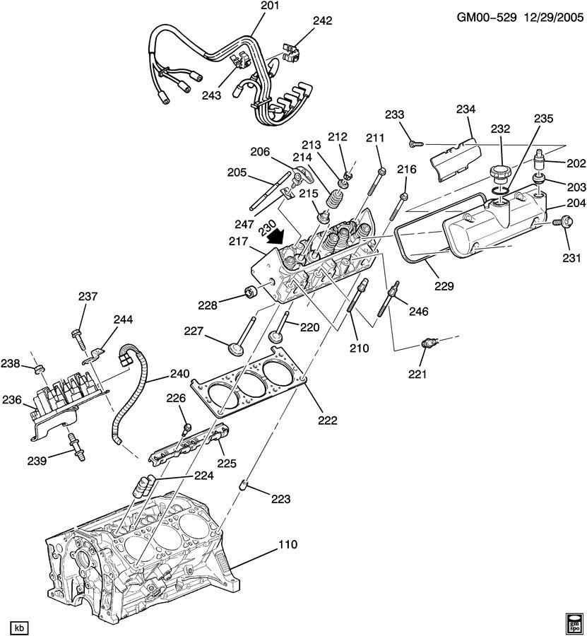 Volvo S80 2000 2001 Engine Cylinder Head Gasket: ENGINE ASM-3.1L V6 PART 2 CYLINDER HEAD & RELATED PARTS