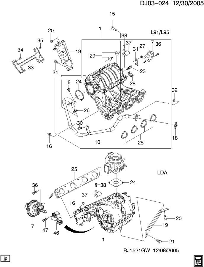 Chevrolet Aveo Seal  Multi Port Fuel Injection Throttle