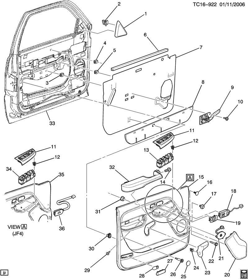 Chevrolet Silverado Door Trim  Side Front
