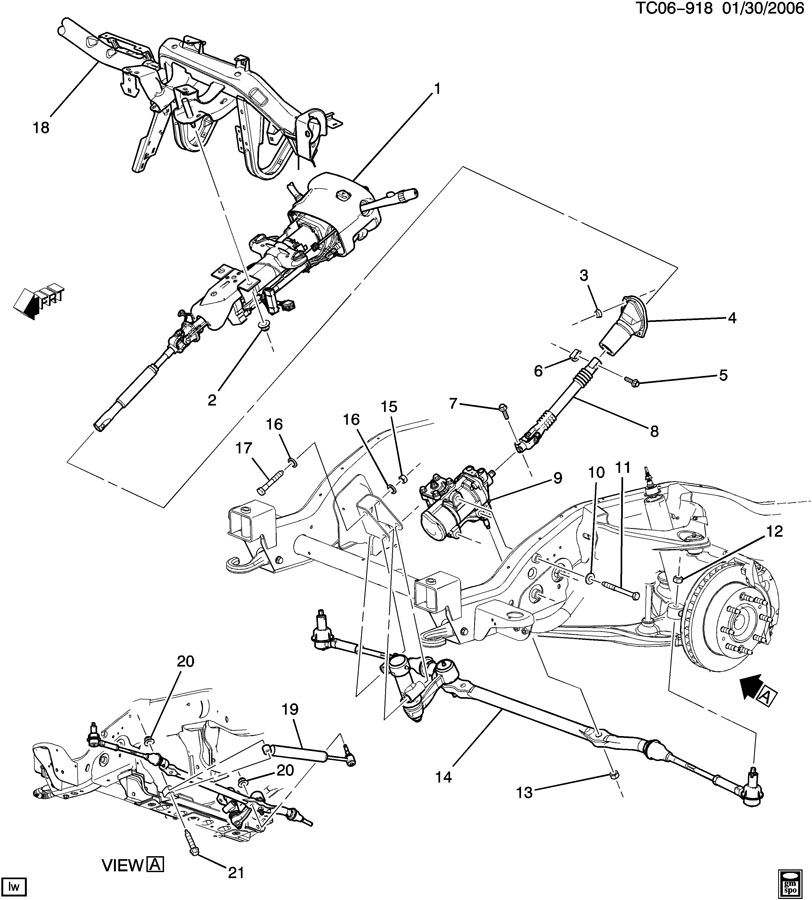 2007 cadillac escalade esv steering system  u0026 related parts