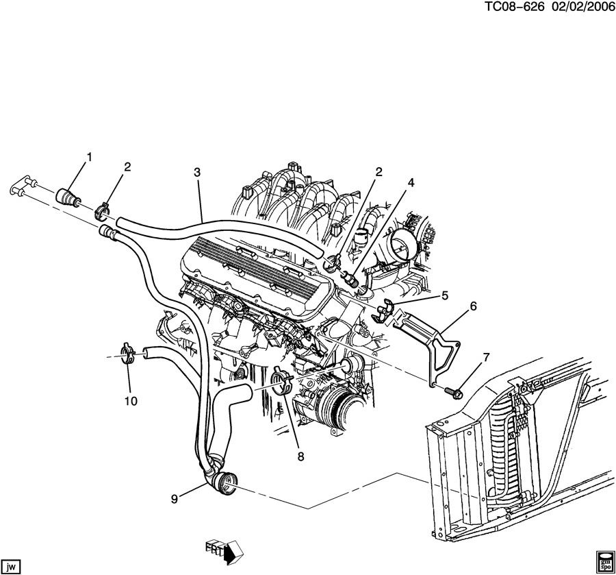 2005 Chevrolet Tahoe Hose  Heater  Hose  Htr Inl Incls