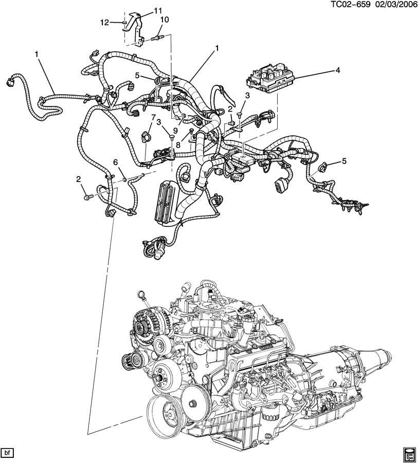 1999 gmc sierra wiring harness  engine