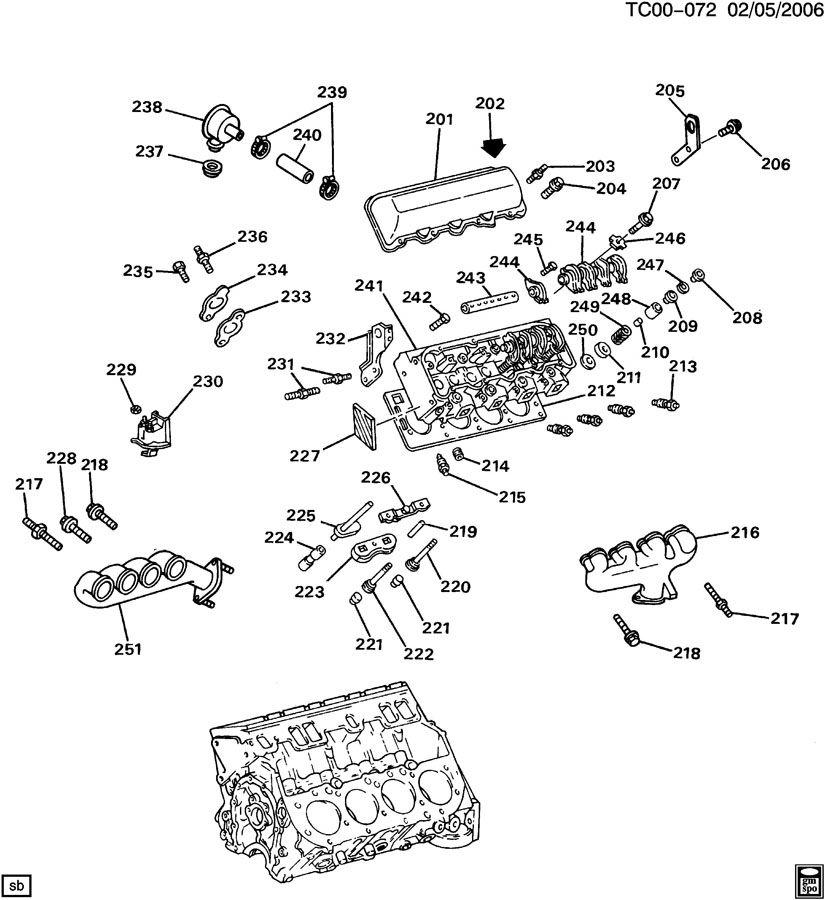 Chevrolet K1500 Bolt  Exhaust Manifold Bolt  Exhaust Manifold End Bolt  Intake  U0026 Exhaust