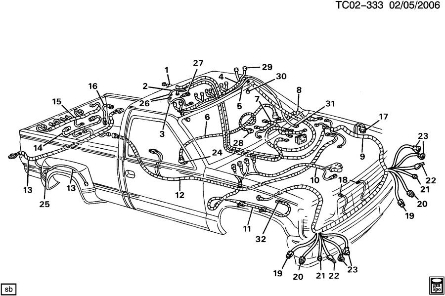 1996 chevy engine wiring harness wiring diagram u2022 rh tinyforge co 5.7 Engine Wiring Harness Replacement 5.7 Engine Wiring Harness Replacement