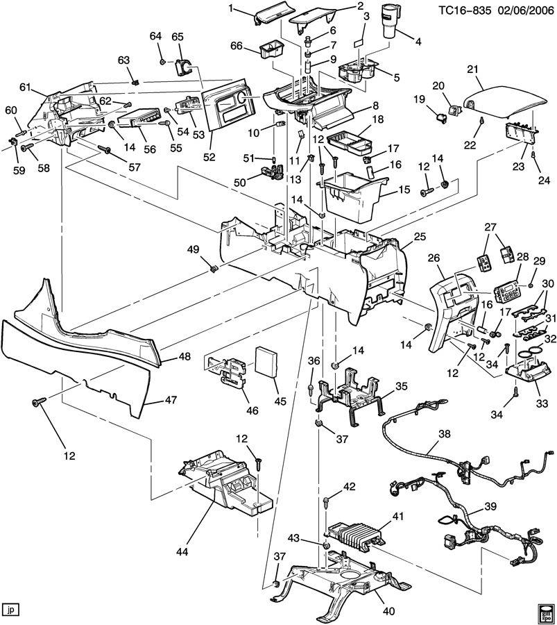2005 chevrolet suburban console  floor