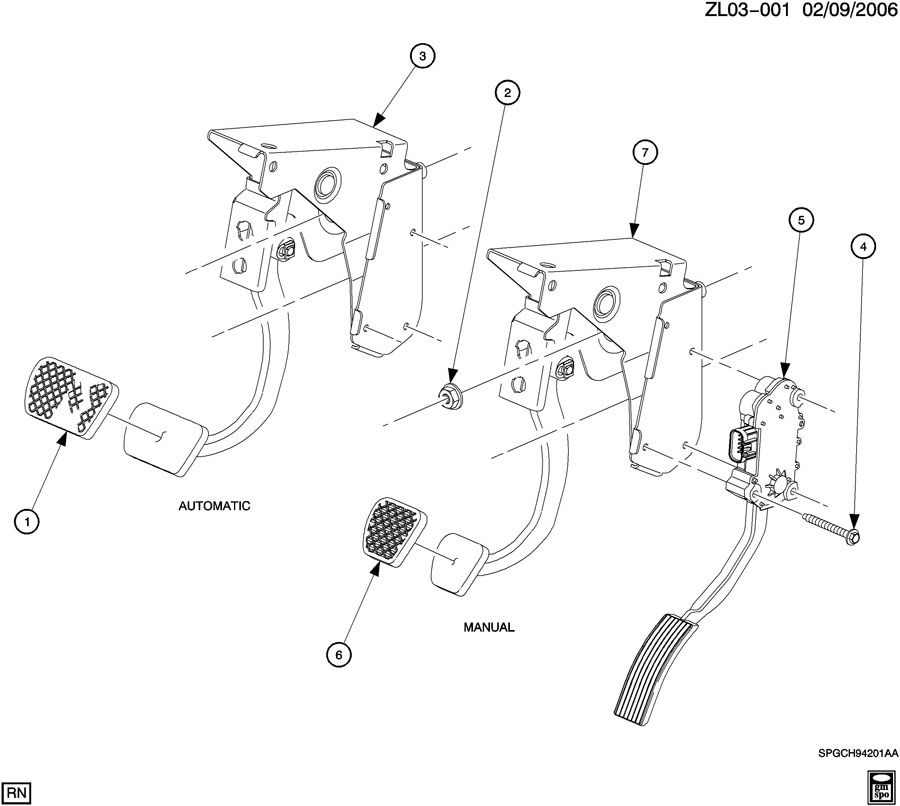 saturn vue pad  brake  clutch pedal  pad  clu ped  pad  brk ped