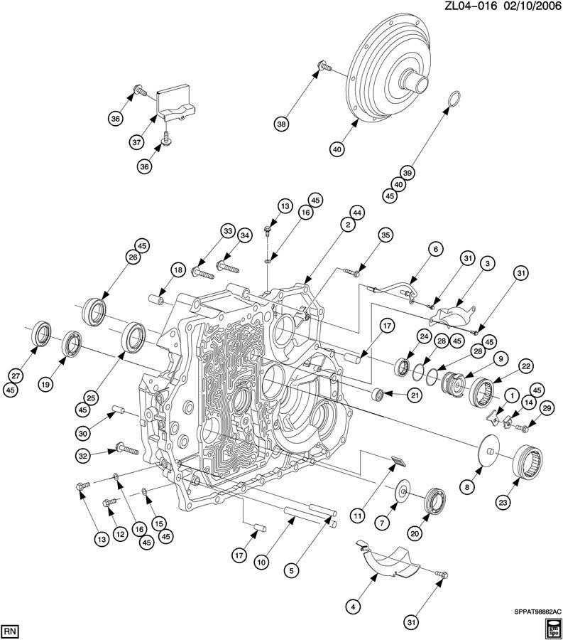 2006 Saturn Vue Converter  Transmission Converter