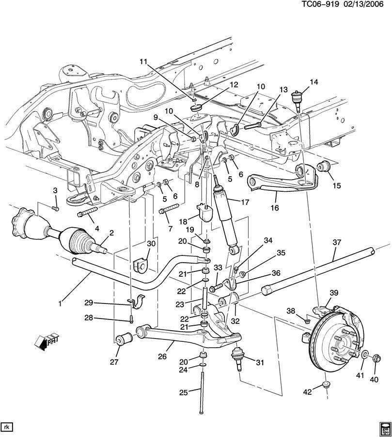 chevrolet suspension  front part 1