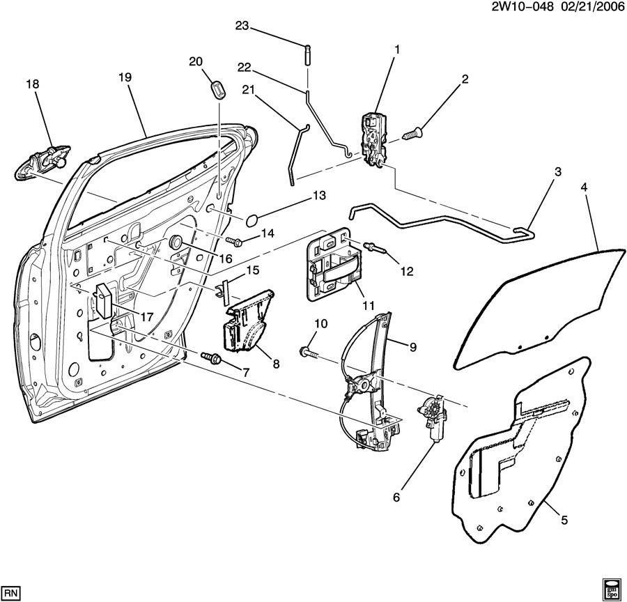 2004 pontiac door hardware  rear part 2