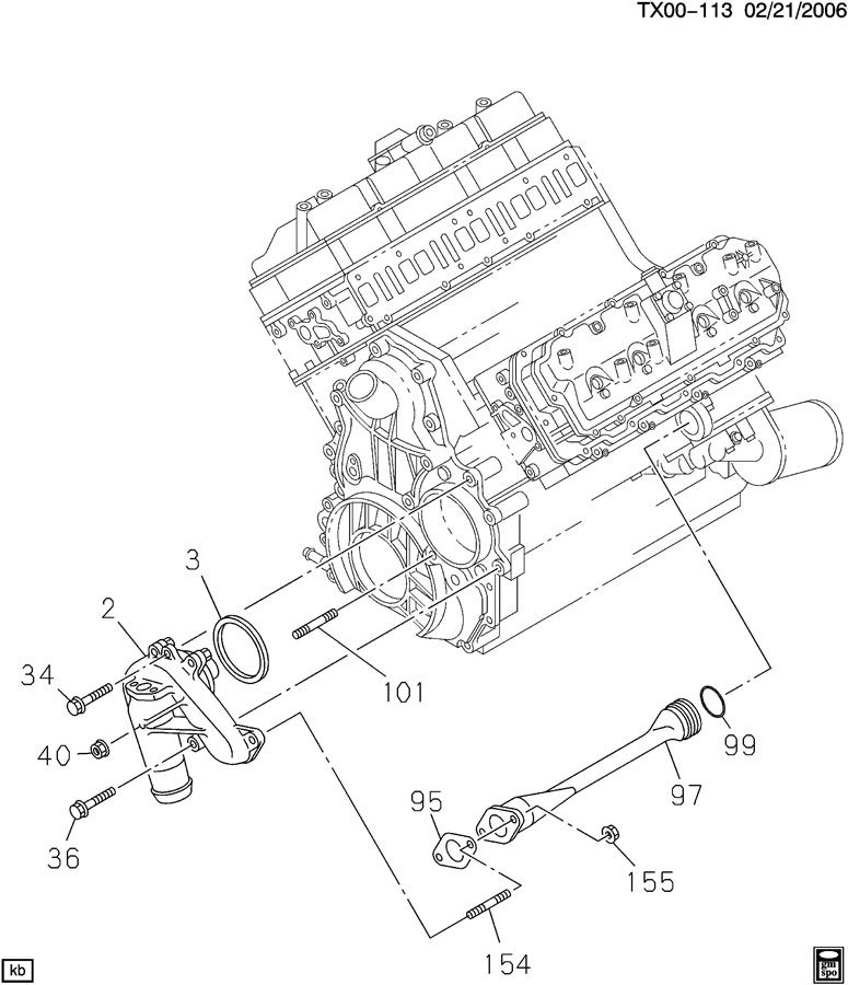 Duramax Water Pump Diagram