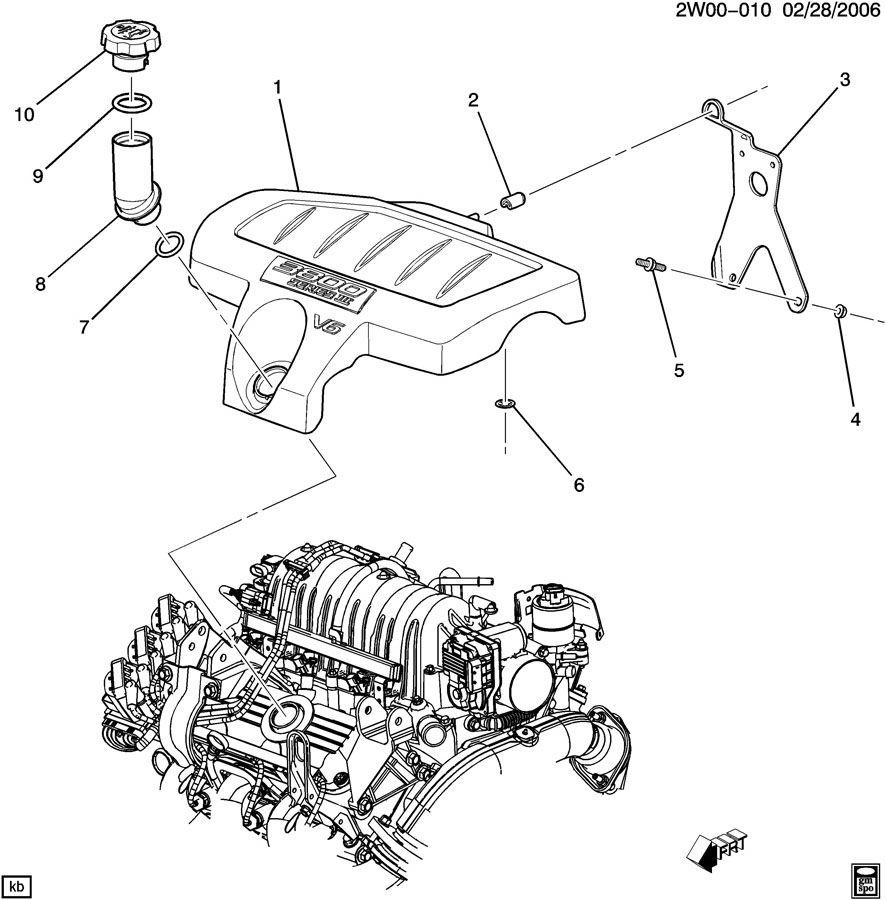 pontiac grand prix gt 4dr bracket  engine fuel intake manifold  bracket  upr int manif cvr