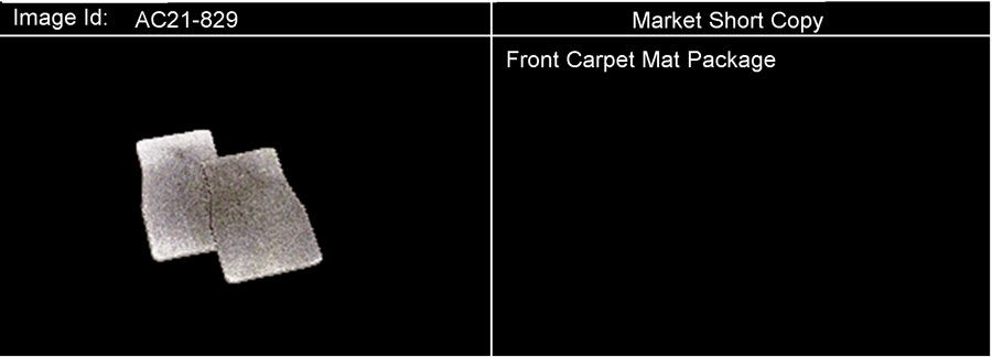 MAT PKG/FRONT CARPET; MAT PKG/FRONT FLOOR CARPET; ST155,158; UX114,122 MAT PKG/FRONT FLOOR CARPET Diagram