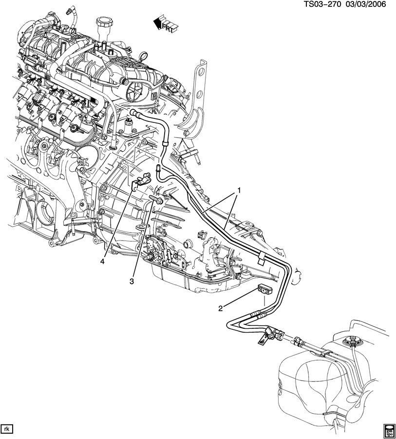 2005 chevrolet trailblazer fuel supply system