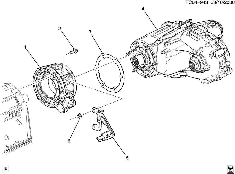 Chevrolet Silverado Gasket  Transfer Case  Gasket  Trfer