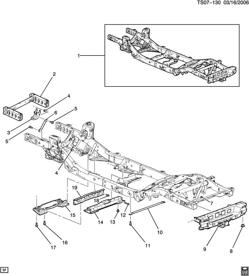 Chevrolet Trailblazer Crossmember  Transmission Mounting