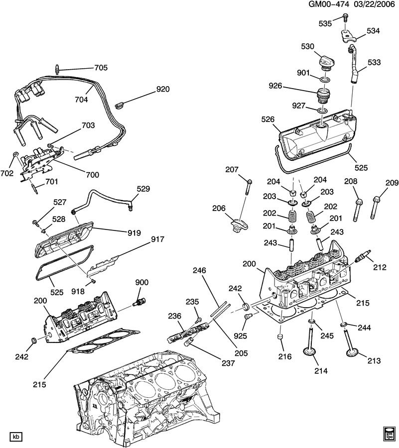 engine asm 3 5l v6 part 2 cylinder and related parts