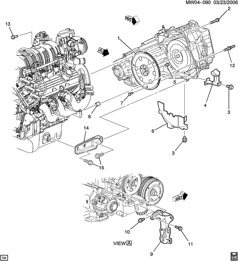 engine to transmission mounting transmission to engine mounting