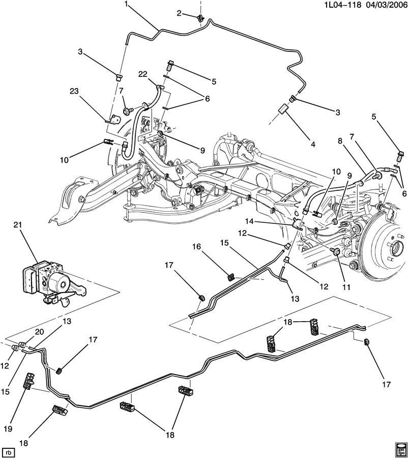 Chevrolet Equinox Retainer  Fuel Line  Hydraulic Brake