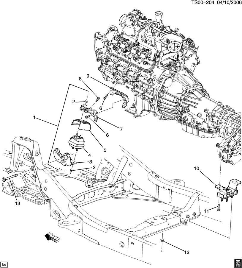 Chevrolet Trailblazer Bolt  Transmission Mount And Support