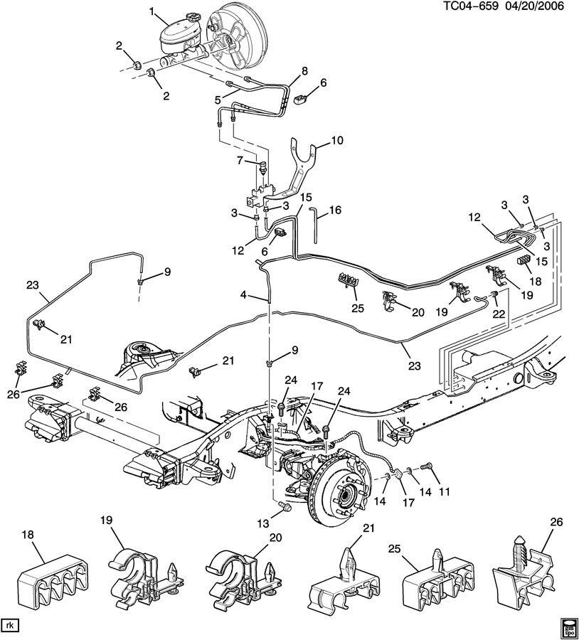 Chevrolet Suburban Brake Lines  Front