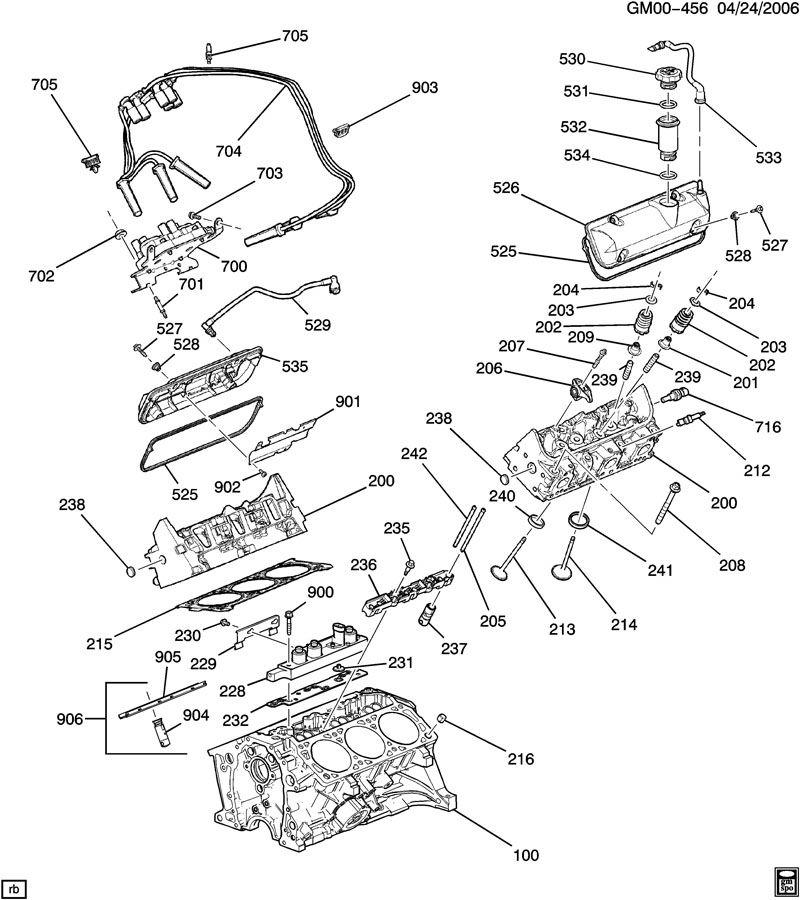 Chevrolet Impala Manifold  Engine Valve Rocker Arm