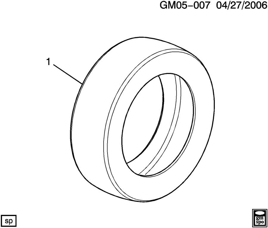 Diagram TIRE for your 1999 Cadillac Seville Base 4DR