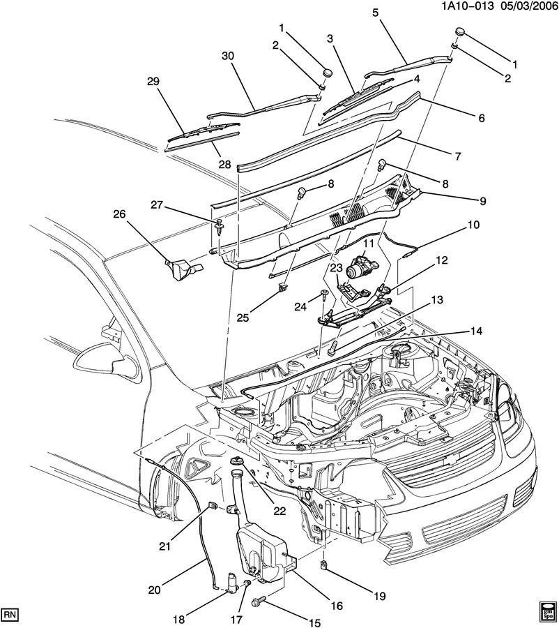 Chevrolet Cobalt Arm  Windshield Wiper Arm  Arm  Wsw - Rh  Armwsw