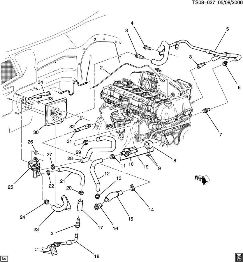 chevrolet trailblazer hoses  u0026 pipes  heater part 1 front