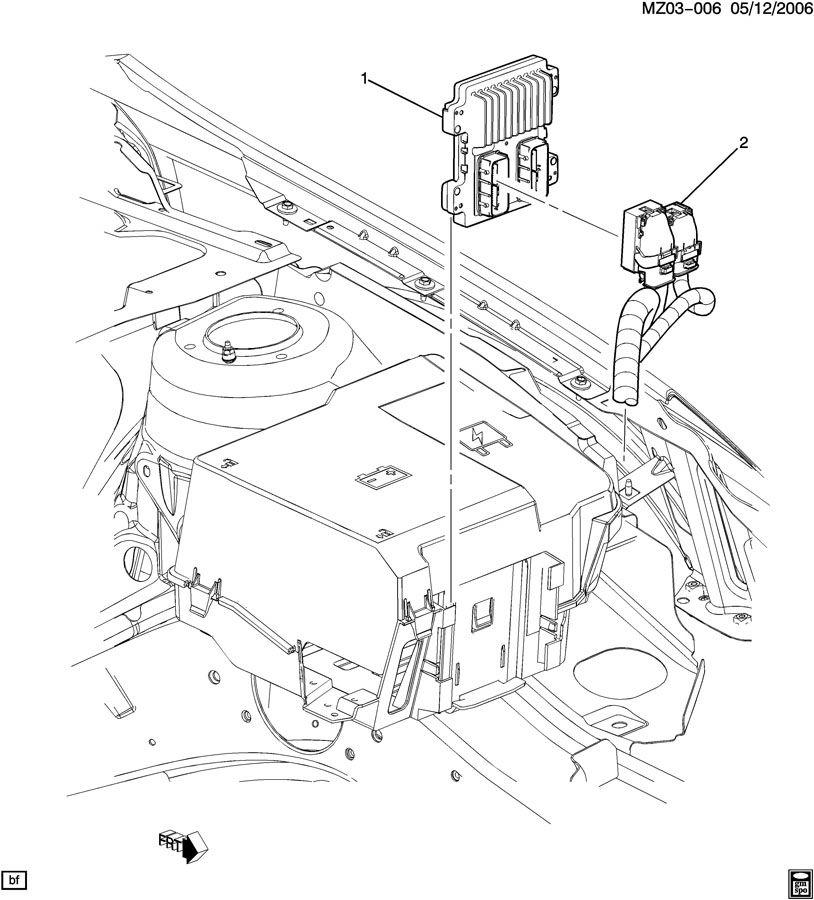 2008 pontiac g6 e c m  module  u0026 wiring harness