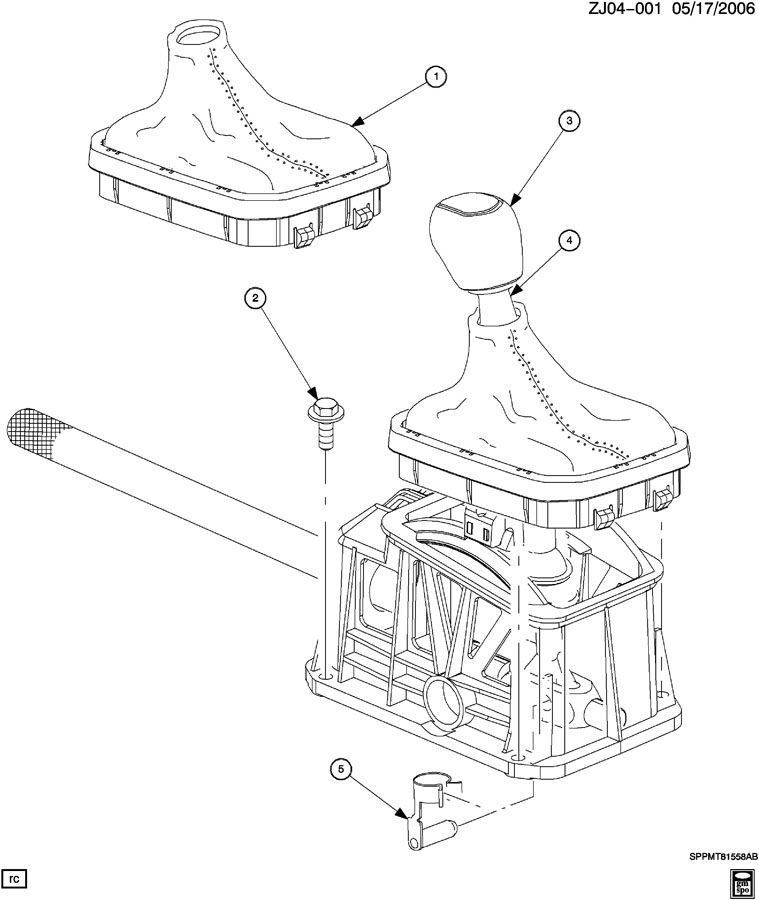 2002 Saturn Shift Controls  Manual Transmission