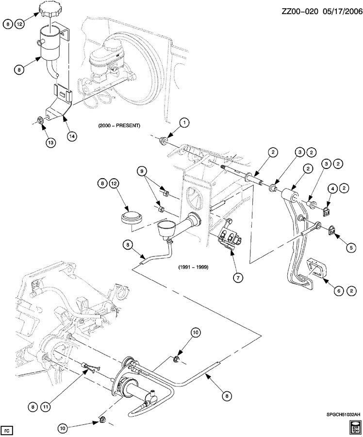 Chevrolet Cavalier Cap  Hydraulic Clutch Reservoir  Rsvrwo