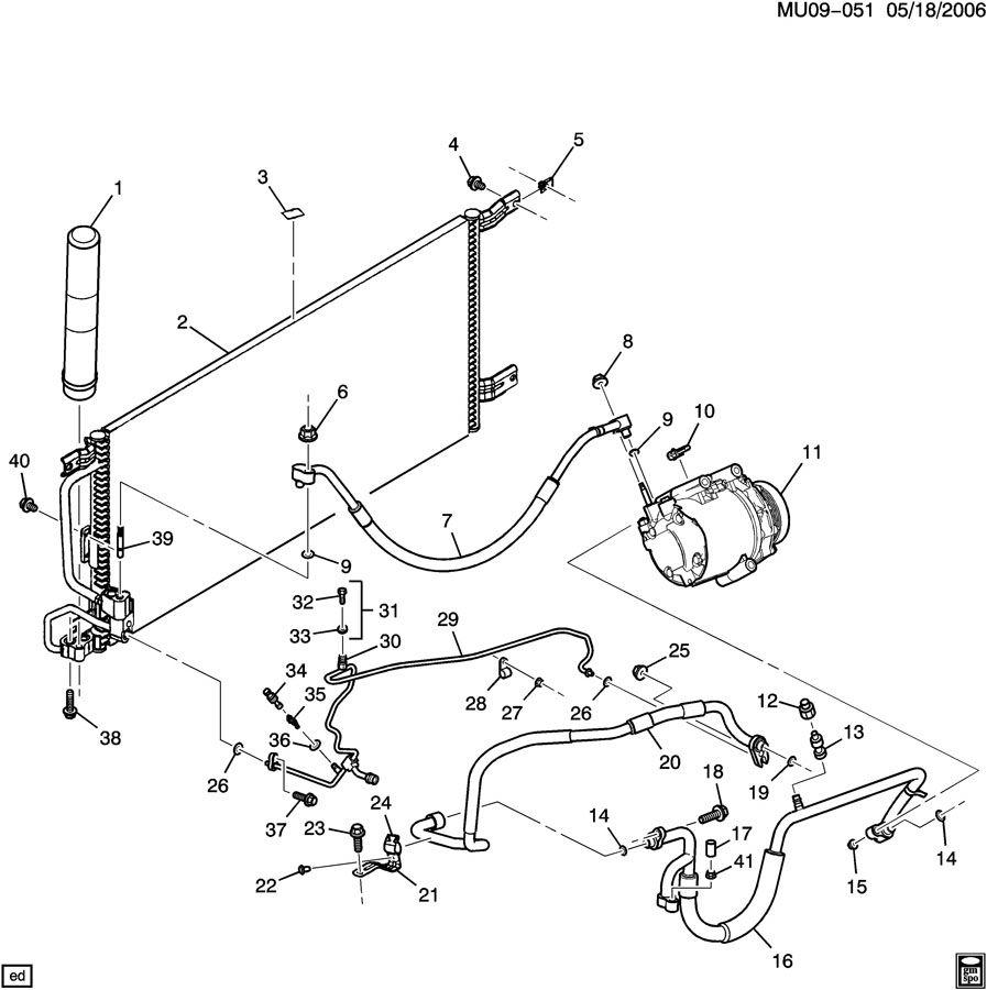 2001 Pontiac Montana A  C Refrigeration System Part 1 Front