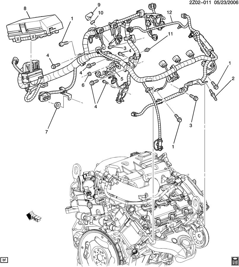 saturn aura xr 4dr wiring harness engine