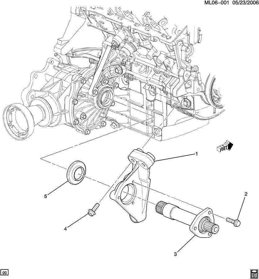 Chevrolet Equinox Bracket  Front Wheel Drive Axle Shaft