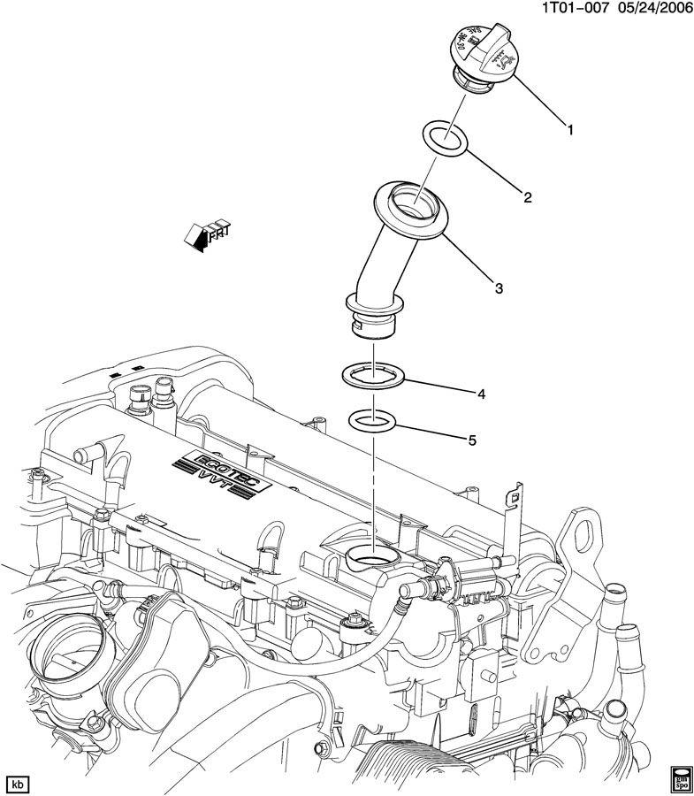 Chevrolet Hhr Tube  Engine Crankcase  Tube  Oil Fil