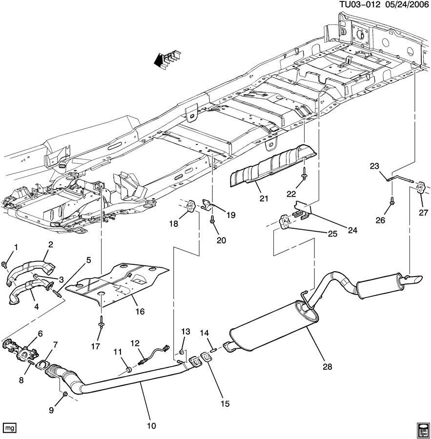 Chevrolet Uplander Bracket  Exhaust Muffler  Resonator  Bracket  Exh Reso Frt Hngr