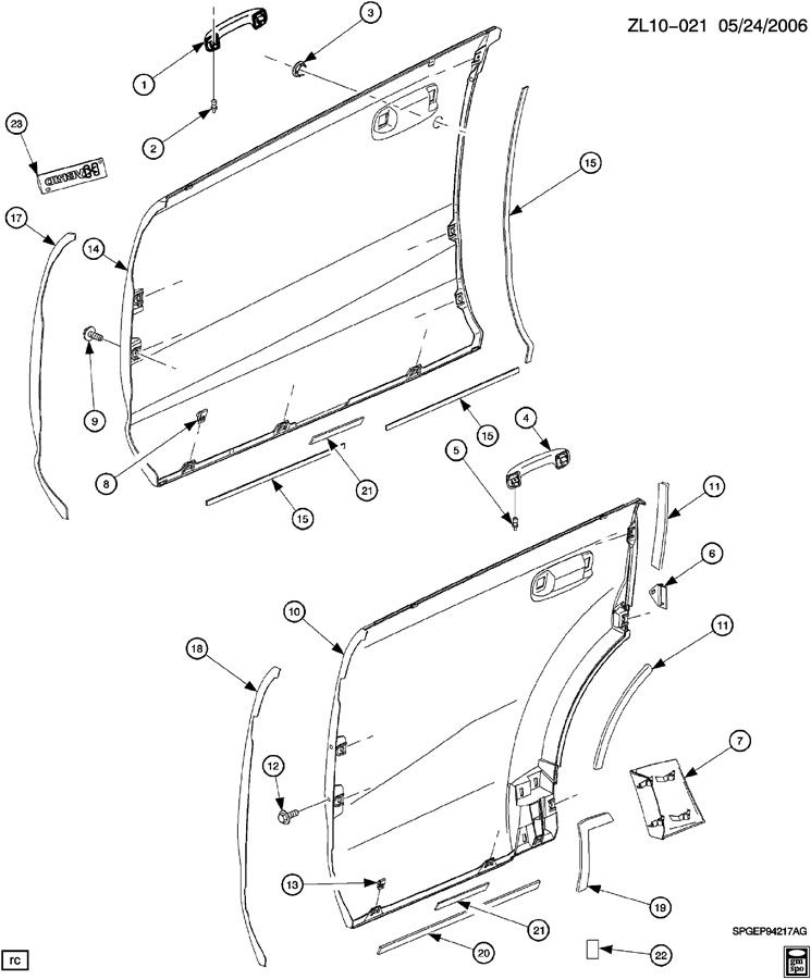 Saturn Vue Molding  Rear Quarter Panel  Molding  Body Si